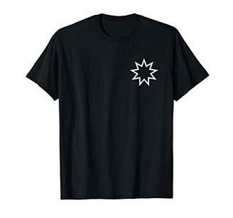 Bahai Nine Pointed Star Shirt - Baha'i Faith Tshirt - Pocket
