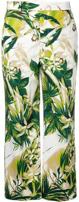 Pt01 foliage-print trousers