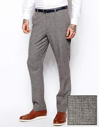 Asos DESIGN Slim Fit Suit Pants In Brown Dogstooth