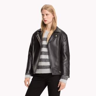 Tommy Hilfiger Boyfriend Leather Biker Jacket