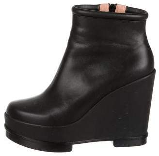 Robert Clergerie Platform Wedge Ankle Boots