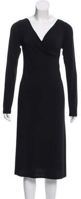 agnès b. Long Sleeve Midi Dress