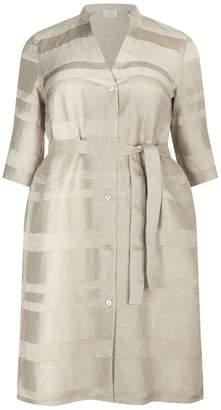 Marina Rinaldi Striped Linen Dress