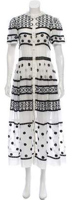 Temperley London Embellished Button-Up Dress