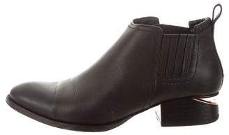 Alexander Wang Leather Round-Toe Booties