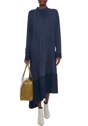 Tibi Pindot Shirred Panel Dress