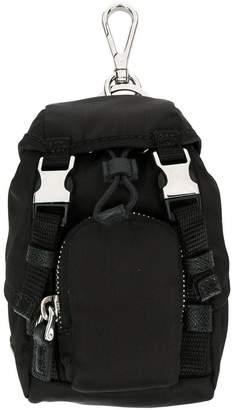 Prada mini backpack keyring