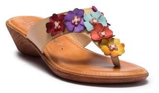 Italian Shoemakers Giggle Embellished Wedge Sandal
