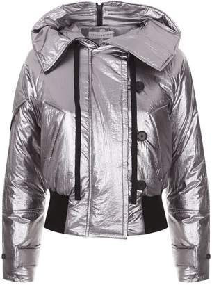 Robert Rodriguez Cropped Metallic Puffer Jacket
