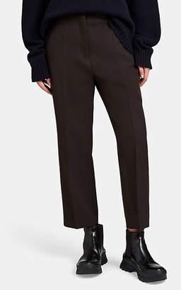Jil Sander Women's Wool Flat-Front Trousers - Dk. brown
