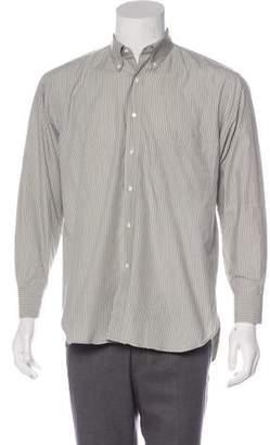 Salvatore Ferragamo Woven Striped Shirt