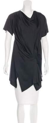 Donna Karan Short Sleeve Asymmetrical Top