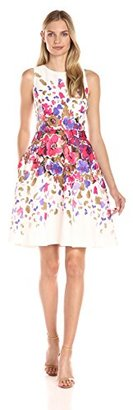 Donna Morgan Women's Sleeveless Floral-Printed Dress $158 thestylecure.com