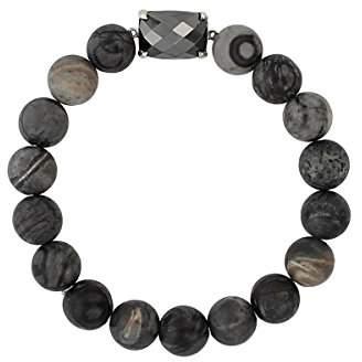 Chan Luu Matte Picasso Jasper Semi Precious Stone Stretch Bracelet