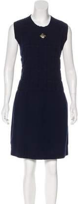 Chanel Camellia Wool Dress