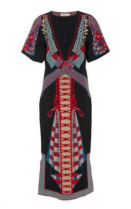 Temperley London Courtesan Printed Jacquard Knit Dress