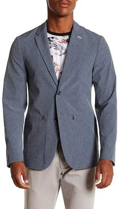 Perry Ellis Technical Commuter Notch Lapel Blazer