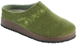 L.L. Bean Women's L.L.Bean Wool Slipper Clog, Embroided