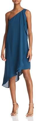 Adrianna Papell One-Shoulder Gauzy Crepe Dress