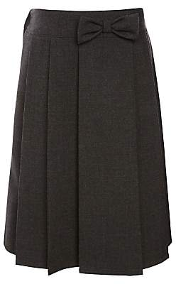 f72968bcdc John Lewis & Partners Girls' Adjustable Waist Pleated School Skirt With  Bow, ...