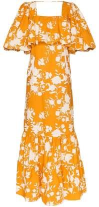 Johanna Ortiz listen to your heart floral-print maxi dress