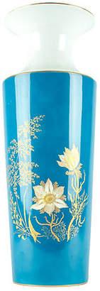 One Kings Lane Vintage Vintage German Porcelain Tall Vase - La Maison Supreme