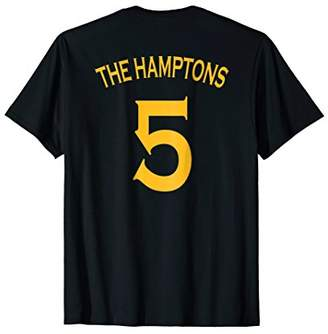 Back Number The Hamptons Five T-Shirt in Warriors Gold
