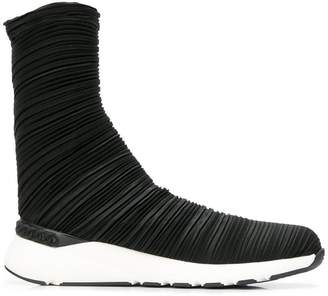 Casadei plissé bandage sock boots