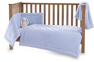 Clair De Lune Honeycomb 3 Piece Cot/Cot Bed Quilt & Bumper Bedding Set - Blue