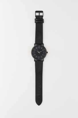 H&M Watch with Leather Band - Black