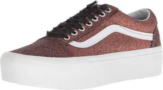 Vans Womens Black/White Old Skool Platform Sneakers-UK 3