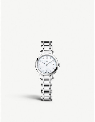 Baume & Mercier M0A10490 Classima diamond and stainless steel watch