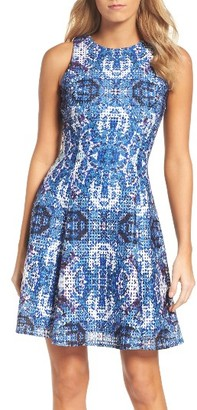 Women's Maggy London Print Fit & Flare Dress $148 thestylecure.com