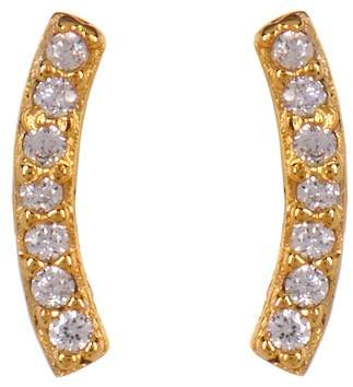 Nordstrom Rack CZ Pave Curved Bar Stud Earrings