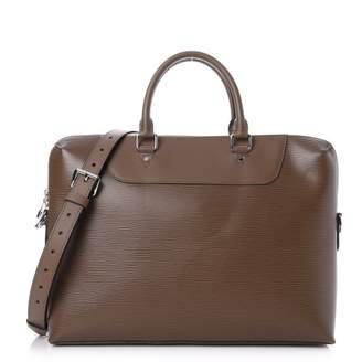 Louis Vuitton Briefcase Porte Documents Jour Epi With Accessories Taupe