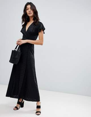 French Connection Polka Maxi Wrap Dress