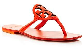 Tory Burch Women's Miller Square Toe Leather Thong Sandals