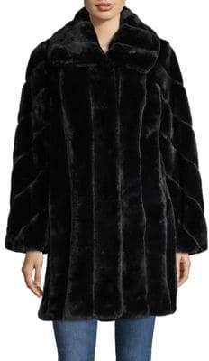 Jones New York Faux Fur Walker Coat