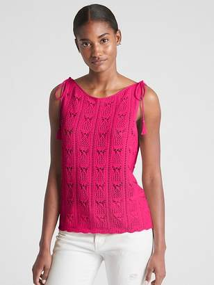 Gap Crochet Tie-Strap Tank Top