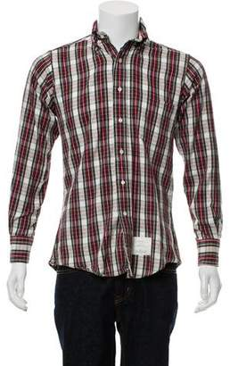Thom Browne Flannel Button-Down Shirt