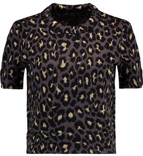 Marc by Marc Jacobs Metallic Jacquard-Knit Wool-Blend Sweater