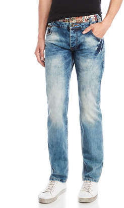 Desigual Washed Regular-Fit Jeans