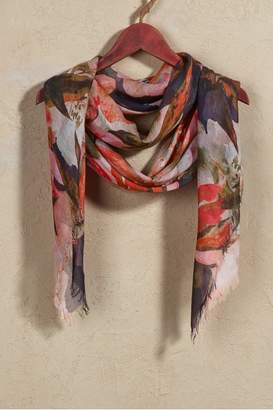 Soft Surroundings Autumn Floral Watercolor Scarf