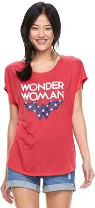 Juniors' DC Comics Wonder Woman Americana Tee