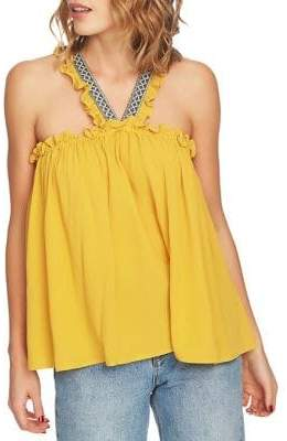 1 STATE High Neck Ruffled Tank Top