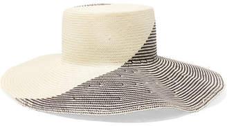 Eugenia Kim Annabelle Two-tone Straw Hat - Off-white