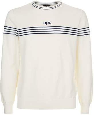 A.P.C. Striped Cotton Cashmere Sweater