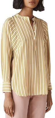 Whistles Striped Silk Tunic Top