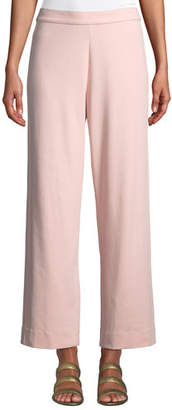 Joan Vass Plus Size Easy Stretch-Interlock Straight-Leg Pants