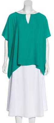 Diane von Furstenberg Oversize Short Sleeve Blouse